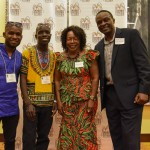 Naam Festival's Collins Majale, Dave Ojay and Nairobi Committee Rosemary & Joseph Oyugi at Denver Sister Cities opening night.